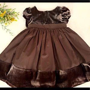 Gymboree Brown Velvet Dress